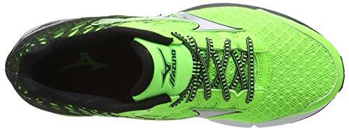 Mizuno Wave Rider 19 Herren Laufschuhe Green (Green Gecko/Silver/Black)