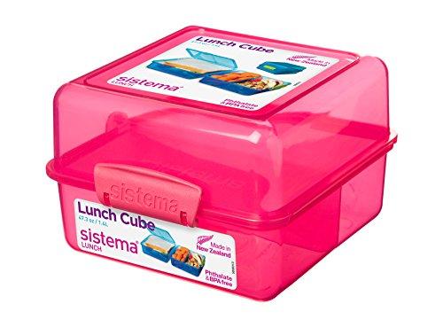 Sistema 1733 Lunch Cube, 1,4 L, 3-Fach, rosa