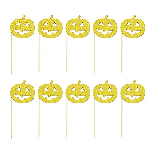 ke Topper Dekorative Cupcake Topper Lebensmittel Obst Picks Party Supplies (Golden) 10 Teile / Satz ()