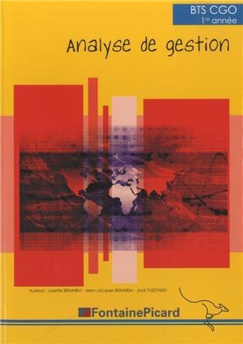 BTS CGO 1re année : Analyse de gestion