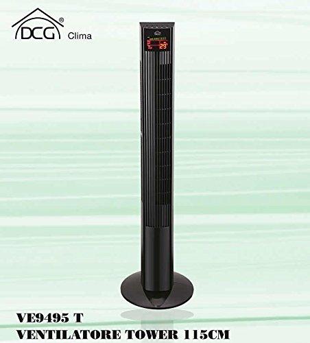 DCG Eltronic VE9495 T, ventilatore a torre da 50 watt alto 115 cm
