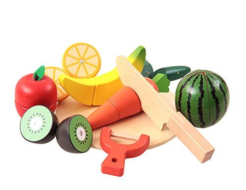 Persevering Melody - Toy Jouets De Fruits pour Enfants, Jeux De Fruits, Légumes Et Fruits, Cuisine De Simulation en Bois Découpée pour Enfants