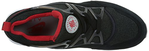 Nike Air Huarache Light, Chaussures de Running Entrainement Homme, Taille Multicolore - Negro / Rojo / Gris (Black / University Red-Wolf Grey)