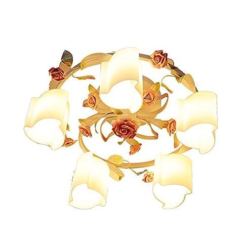 Deckenleuchte Moderne Decken Lampen Deckenbeleuchtung Deckenlampe Lange Decke Lampe Romantische Stieg Rustikale Schmiedeeisen Blumen Schlafzimmer Wohnzimmer Esszimmer Lampen 5