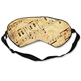 Augenmaske Vintage Retro Music Note Schlafmaske verstellbar atmungsaktiv Schlafmaske Augenmaske