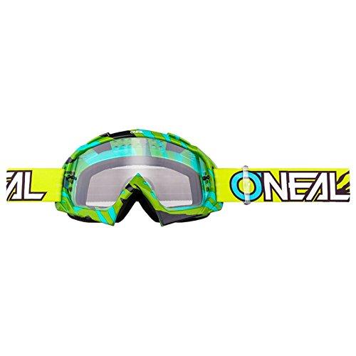 O'Neal B-10 Goggle Stream Crossbrille Klar Motocross DH Downhill MX Anti-Fog Glas, 6024-40, Farbe Neongelb