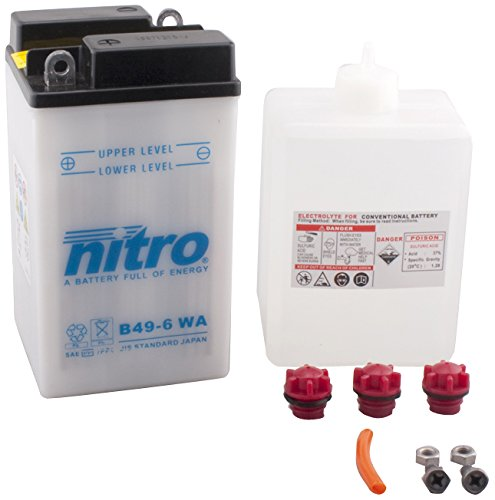 NITRO B 49-6 WA-N- Batteria Moto aperto con acido Pack