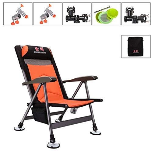 YHHK Im Freien Beweglichen Klappstuhl Angeln Hocker Stuhl Camping Armlehne Folding Fischen-Stuhl-Becherhalter Tragen Fischen-Picknick-Grill Liegestuhl