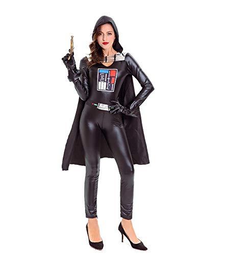 Girl Vader Kostüm Darth - MJPARTY Damen Kostüm Darth Warrior Deluxe Damen Space Girl Kostüm