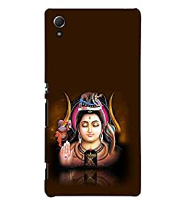 printtech Lord God Shiva Back Case Cover for Sony Xperia Z3 Plus / Sony Xperia Z3+