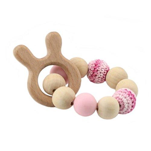 Best for baby Bois Animal Bébé teether Bijoux Accessoires d'allaitement Boule de bois Jouets bébé Cadeau