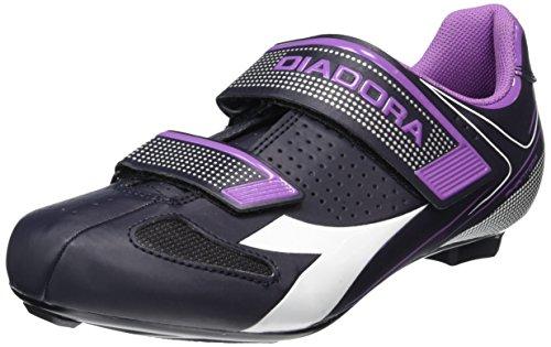 Diadora Phantom II W, Scarpe da Ciclismo Donna, Multicolore (DK Smoke/Bianco /Vilet orchid iris6040, 38 EU