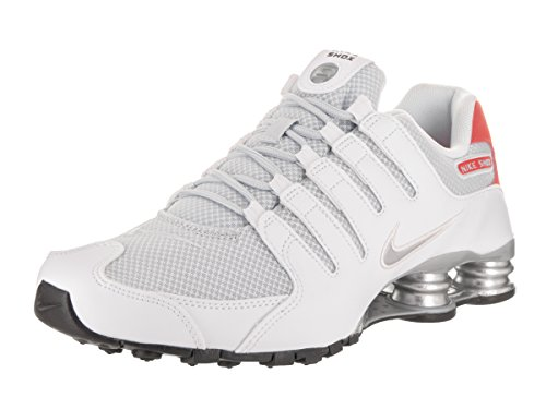 Nike Mens Shox NZ Special Edition Mesh Trainers White/Metallic Silver