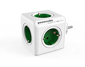 Allocacoc PowerCube Original Steckdosenleiste (5X Verteiler, 230V Schuko) grün