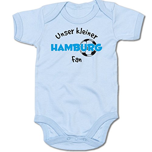 Unser Kleiner Hamburg Fan Baby-Body Suite Strampler 250.0487 (6-12 Monate, blau)