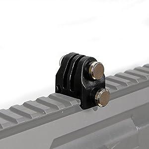 Huenco Support Fixe de caméra d'action de Casque Tactique NVG pour Le télescope, Pistolet d'airsoft, équipement Tactique