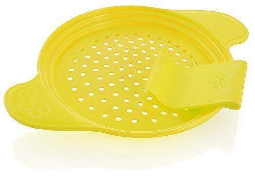 Spätzle-Reibe die Alternative zu Spätzlepresse oder Spätzlehobel – Muxel´s Spätzlebrett – Mit dem Spatzen-Sieb gehen Käsespätzle – Knöpfle leicht. Mit dabei Teigschaber - Spatel in Gelb + Rezepte