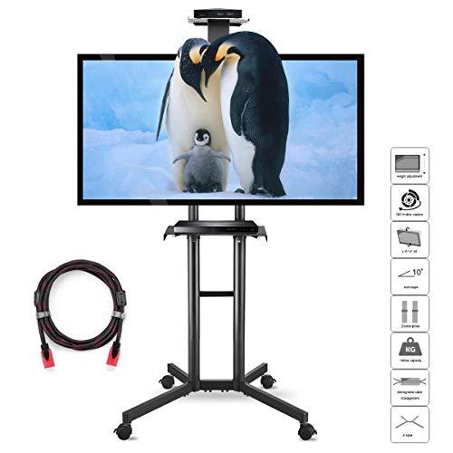Höhe Einstellbar Tv-wagen (Mobile tv Ständer Universal standfuß für 32-70 Zoll Displays VESA Bis Zu 600x400mm 45KG Suptek ML5073)