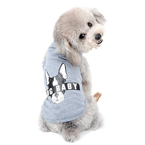 SELMAI 2018Neue Haustier-T-Shirt Weste für kleine Hunde Doggie Drucker, 100% Baumwolle, weich und Tee Shirt Sommer-Welpen Kleidung (nur für kleine Haustiere