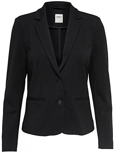 ONLY NOS Damen Anzugjacke Onlpoptrash Blazer Noos, Schwarz (Black), 36 (Herstellergröße: S) (Blazer Schwarzer Jeans)