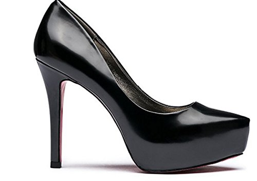 Dame peu profonde chute fashion en cuir verni a fait chaussures/Chaussures à talon haut talon A