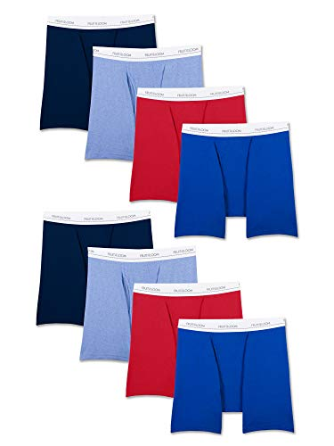 rren Active Cotton Blend Lightweight Boxer Briefs Slip, Assorted Colors (8 Pack), X-Large ()