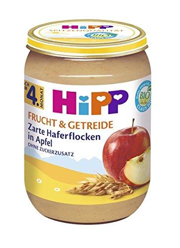 Hipp Frucht & Getreide, Zarte Haferflocken in Apfel, 6er Pack (6 x 190g)