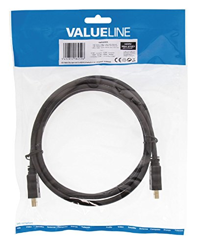 Valueline VGVP34000B15 High Speed HDMI Kabel mit Ethernet (Stecker auf Stecker, 1,5m) schwarz Audio-destination