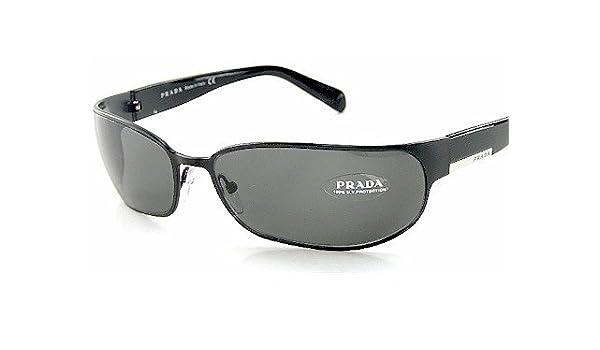 7b59fb1deecfd New Authentic Prada Sunglasses Spr 53F Spr53F 1Bo-1A1 Smoke Lenses   Black  Frame Size 67-16-120  Amazon.co.uk  Clothing