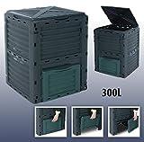 Gr8 Garden Groß 300 Liter Komposter Eco Kompost Recycling Boden Außen Aufbewahrungs Behälter Abfall Gras Kompostierung Box