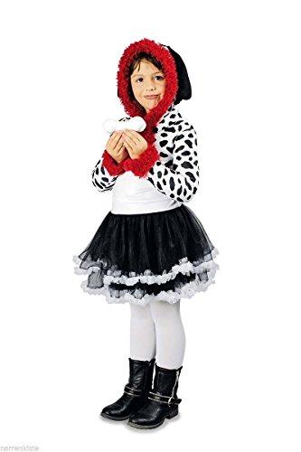 K31250253-116-128 Kinder Mädchen Dalmatiner-Kostüm Gr.116-128