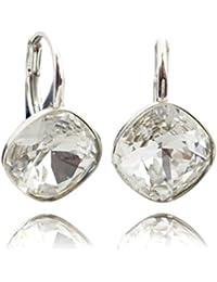 Crystals & Stones * Rhombus Square * * Crystal * Plata 925–Pendientes con Cristales de Swarovski®–Schön Pendientes–Pendientes–Fantástica Pendientes con caja de regalo