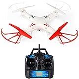 RC Quadcopter Drone con 0.3MP HD Cámara 2.4G 4CH 6 Eje Gyro Headless Mode, FPVRC X5G RC Helicóptero con 3D Rolling y una llave para el modo de retorno (Bonus tarjeta SD, protectores y cuchillas)