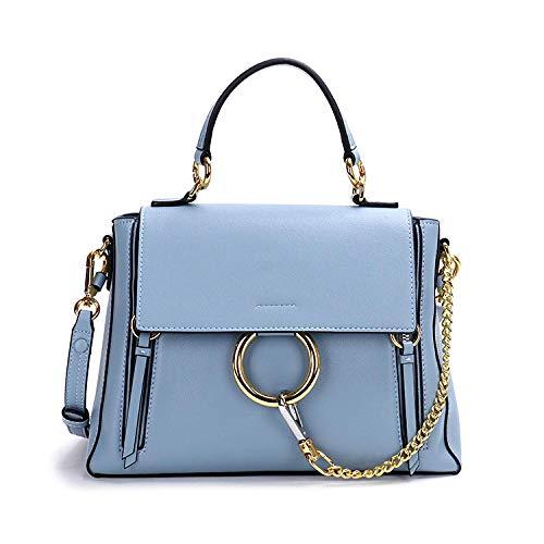 FENGLI Wings Paket einfache Armband Tasche Wildleder Tasche Damen Handtasche blau