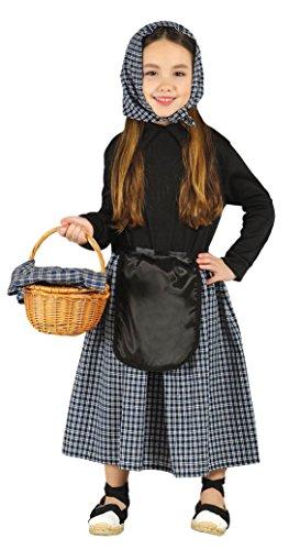 Imagen de guirca  disfraz infantil de castañera, 5 6 años, color negro 42460.0