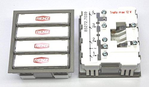 RENZ Tastenmodul mit 4 Klingeltaster grau RENZ Nummer 97-9-85272