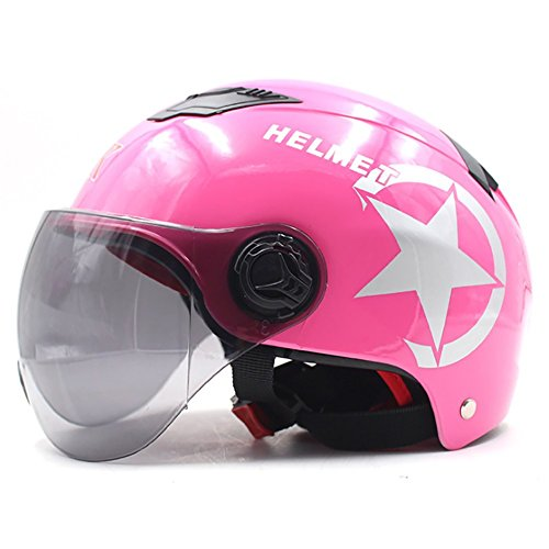 Motorradhelm Männer und Frauen Elektroauto Helm Sommer Halben Schatten Sonnenschutz Schutzhelm,A