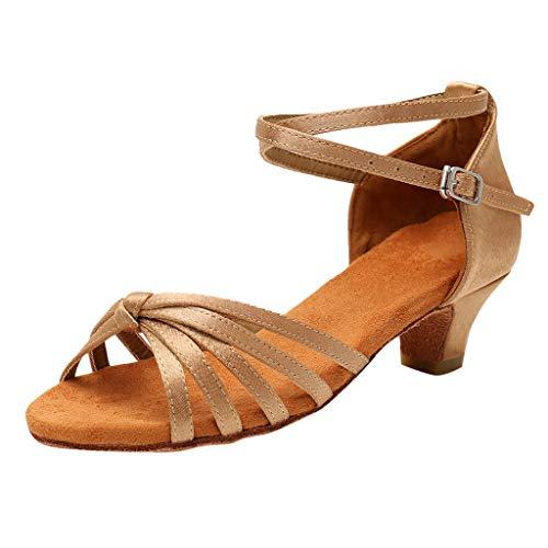 Niñas Estándar de Zapatos de Baile Latino Satén Ballroom ZARLLE Mujeres&Niña Zapatos...