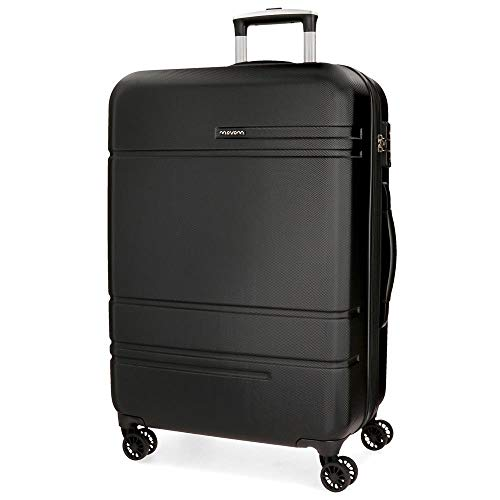 Movom Galaxy Black Big Rigid Trolley, 78 cm