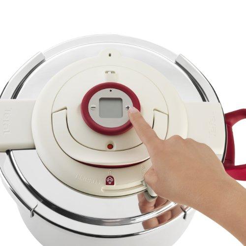 Seb Clipso P4400600 Pressure Cooker Programmierbarer Timer Genauigkeit ohne Anstrengung geöffnet Inox 4.5L