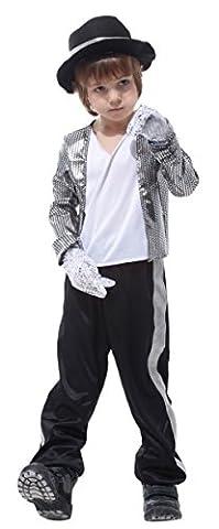 GIFT TOWER Costume Michael Jackson Enfant Fille Garçon Déguisement Halloween Cosplay Festival Théâtre Parti