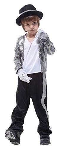 EOZY Superstar Jackson Kostüm Jungen Karneval Faschingskostüm Cosplay XL