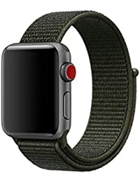 Nylon Strap, 42Mm 38Mm with Woven Strap Velcro Strap 44Mm 40Mm Sports Ring Strap for Apple Watch 4 3 21 Series