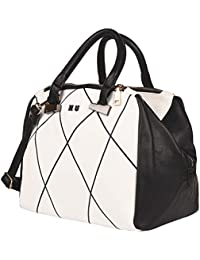 ILU Elegant Women's Cross Body Hand Bag (White & Black ILUB70)