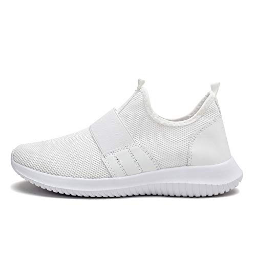 HOTSTREE New Spring Summer Men Shoes Breathable Mesh Sneakers Men Casual Shoes Slip-on Loafers Men Sneakers Zapatillas Hombre Big Size White 1633 11
