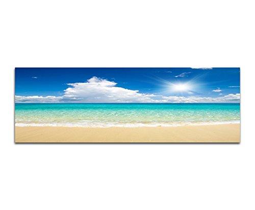 Cartellone–stampa artistica 150x 50cm spiaggia di sabbia di mare nuvole sole estate
