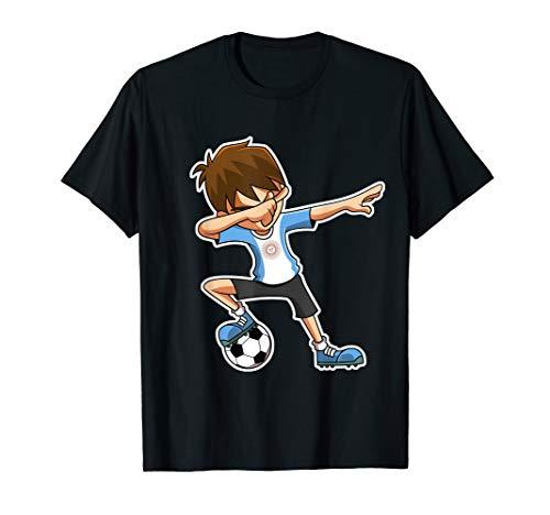 Argentinien Fußball Trikot (Dabbing Fußball Jungen Argentinien Trikot Kinder T-Shirt)