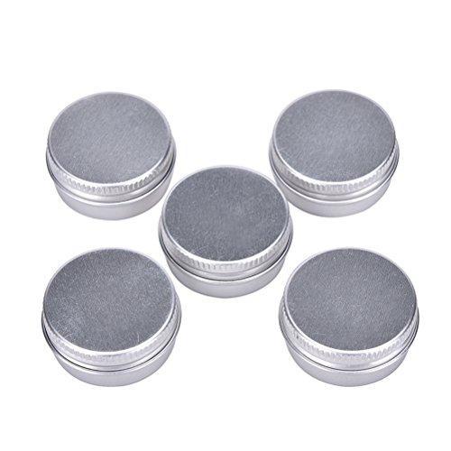 Welecom 5 boîtes rondes en aluminium pour baume à lèvres, produits de beauté, cosmétiques, accessoires, Img 1 Zoom