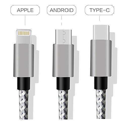 AMZTOLIFE PA-CC-MIX-S01 USB-Kabel, 1m, silberfarben, Stück: 1