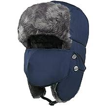 Vbiger Unisex Sombrero de invierno Sombrero de felpa Sombrero a prueba de  viento Sombrero caliente Gorro f7c806dbf94